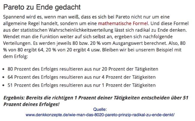 ONLINE BUSINESS AUFBAUEN - PARETO ERWEITERN